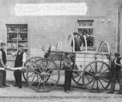 Schmiede Hirsch mit Munitionswagen 1915