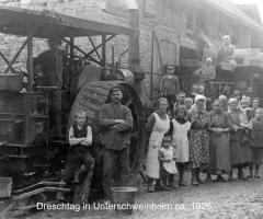 Dreschtag in der Unterhainstr um 1920 (03)