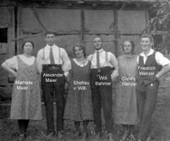 Elterhof Bahmer Familientreffen am Elterhof 1927
