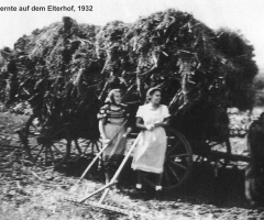 Heuernte auf dem Elterhof 1932