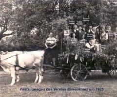 Birkenknorz 1925 - Festzugwagen