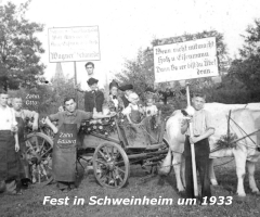 Fest in Schweinheim 1933