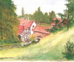 Eckertsmühle - Aquarell v. Fleckenstein