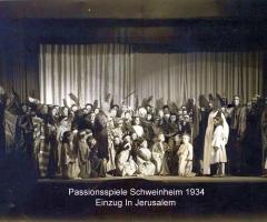 Passionsspiele 1931-34 Einzug in Jerusalem