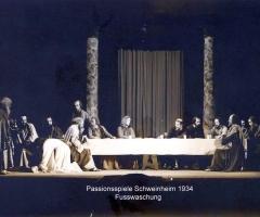 Passionsspiele 1931-34 Jesus wäscht Judas die Füsse