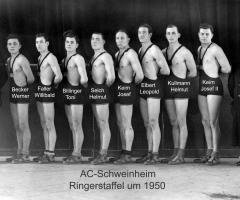 AC Schweinheim Ringerstaffel um 1950