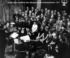 Sängerbund 75-jähr. Jubiläum Liederabend 1958