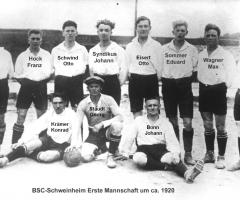 BSC 1. Mannschaft um 1920