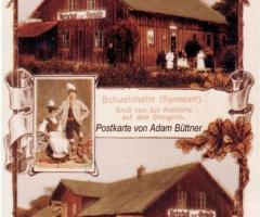 Ansichtskarte Almhütte 1925