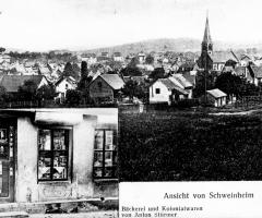 Ansichtskarte Bäckerei Stürmer Schweinheim