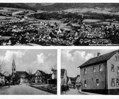 Ansichtskarte Schweinheim Rathaus und Kirche
