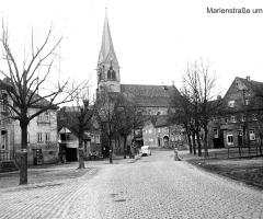 Marienstr um 1950 Bereich Altes Kriegerdenkmal