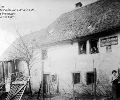 Neugasse Edmund Otto Schusterwerkstatt 1920