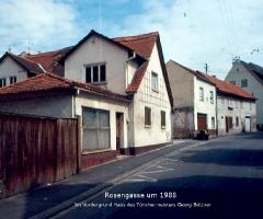 Rosenstr 19 mit Anwesen Georg Büttner 1988