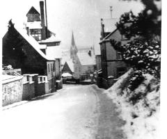 Schweinheimer Str Höhe Krenz im Winter 1960