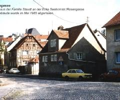 Seebornstr Wohnhaus Staudt bis 1985