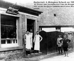 Seebornstr 4 Metzgerei Schuck vor 1931