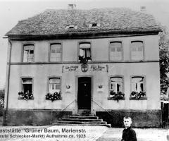 Grüner Baum Marienstr Gastwirt Josef Wenzel 1925