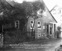 Wirtschaft u. Metzgerei Appelmann (später Sandt) Bischbergstr 1930