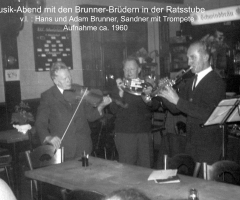 Ratsstube Musikabend Gebrüder Brunner 1960