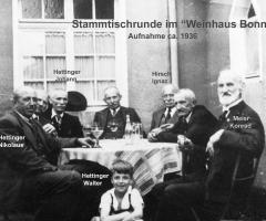 Weinhaus Bonn Aumühlstr Stammtisch 1936