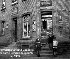 Weinstube u. Bäckerei Giegerich Marienstr 1933