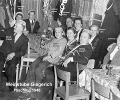 Weinstube Giegerich Fastnacht 1949