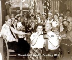 Weinstube Giegerich Fastnacht 1950