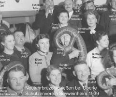 Zur Gemütlichkeit Brezelschiessen Neujahr 1939