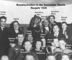 Zur Gemütlichkeit Brezelschiessen Neujahr 1939 (2)