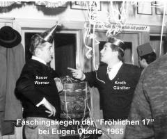 Zur Gemütlichkeit Fröhliche Siebzehn Kegeln 1965