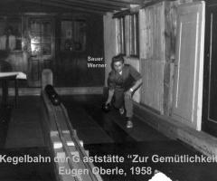 Zur Gemütlichkeit Kegelbahn 1958